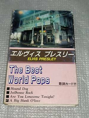 ELVIS PRESLEY THE BEST WORLD POPS Vintage tape cassette JAPAN MADE (SUPER RARE)