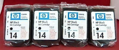 (Lot 4) C5011D 14 C5011DN Genuine HP 26ML Black Ink CP1160 1160TN 610 D125XI *