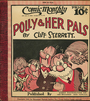 Cliff Sterrett. POLLY AND HER PALS. Comic Monthly #12, December, 1922. RARE!
