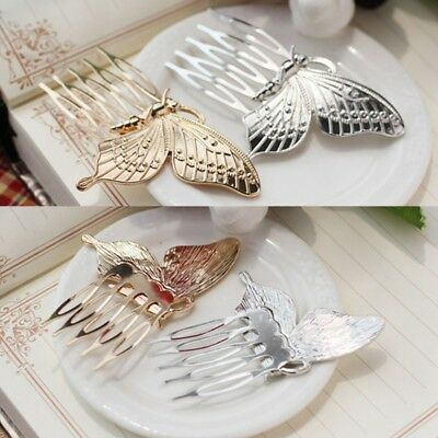 Fashion Women Lady Girls Butterfly Wing Comb Hair Pin Barrette Clip Accessories