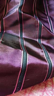 BEAUTIFUL BOLT ANTIQUE FRENCH STRIPED SILK SATIN c1920 - ATTIC FIND