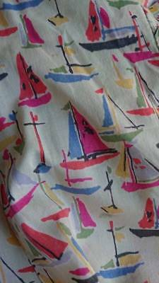 SWEET 1940s DRESS WITH SAILING BOATS CUTTER OR RESTORE - ATTIC FIND