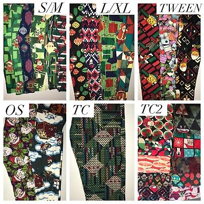 BNWT LuLaRoe Christmas Leggings OS TC TC2 S/M L/XL Tween LLR Holiday Santa Pants