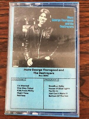 1980 rounder records cassette More George Thorogood and The Destroyers