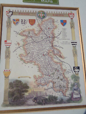 Reproduction antique map of Buckinghamshire new