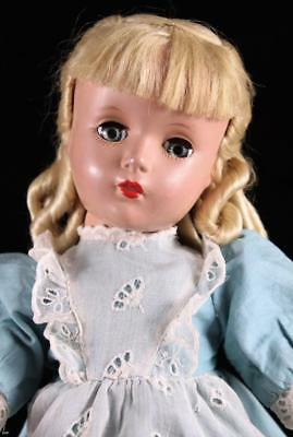 "Madame Alexander 14"" Little Women AMY Doll Hard Plastic Margaret Face Loop Curls"