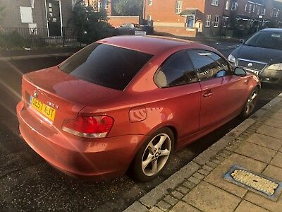 BMW 1 series coupe 120d red