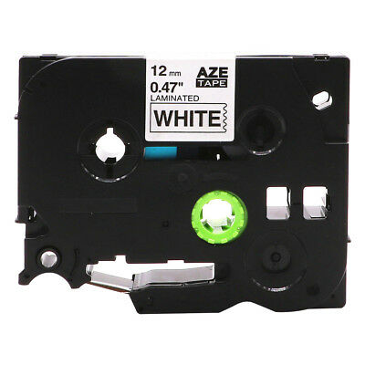 1PK TZ231 Black on White Label Tape Laminated for Brother P-Touch PT-H110 1/2""