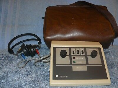 Maico MA 25 Portable Audiometer (Battery Powered), with Case, and Calibration