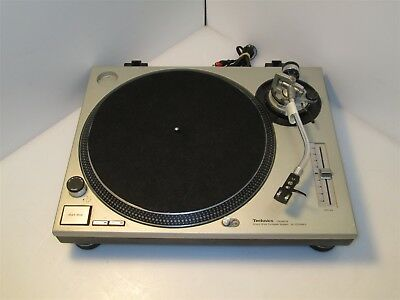Technics SL1200 MK2 Direct Drive Turntable System Tested Working