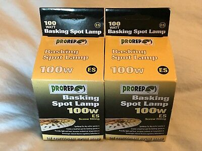 Prorep 100 Watt Basking Spot Lamps X 2 - Es Fitting.