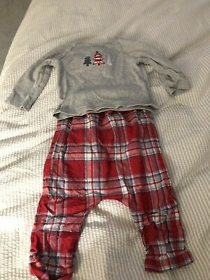 The Little White Company Christmas Pyjamas.Age 12-18 Months.