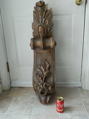 """Antique Hand Carved Wood Victorian 36"""" Corbel Architectural Salvage"""