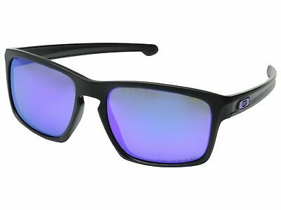 90d65b9df8 Oakley Silver OO9262-10 Sunglasses POLARIZED Matte Black Violet Iridium  9262 10