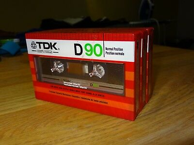 3 x Vintage TDK D90 Audio Cassettes dated 1982 - Brand New Factory Sealed