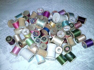 Vintage wooden thread spools 61