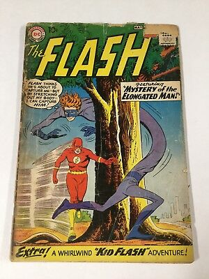 Flash 112 1.8 Gd- Good- Tape On Spine Small Piece Front Cover Missing Dc Silver