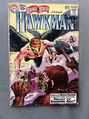 1961 DC Brave and the Bold #35. Kubert Hawkman 2nd Silver Age appearance VG