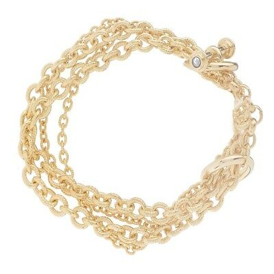 "QVC Francesca Visconti's Multi Chain Toggle 7-3/4"" Bracelet"