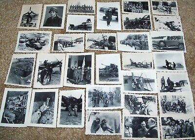 Large Lot Of 80+ Reproduction Small Ww2 German Military Photos, Great Content!