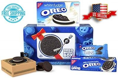 Oreo Music Box—Cookie Record Player – Collectible Holiday Gift Tin FREE SHIPPING