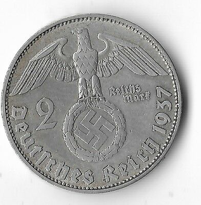 Rare Old SILVER 1937 WWII Germany Great War Eagle German BERLIN Coin US Seller