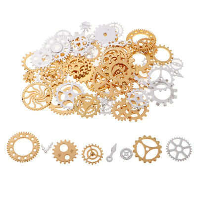 100g/Pack Silver Gold Alloy Gear Pendant Charms for Jewelry Making DIY Craft