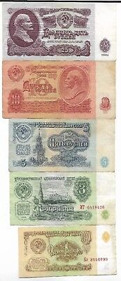 Rare Old Soviet CCCP Lenin Russian Rubles Note Dollar Collection COLD WAR Lot-us
