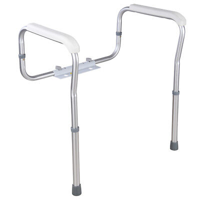Aluminum Alloy Toilet Safety Rail Elderly Handicap Adjustable Support Grip Bar