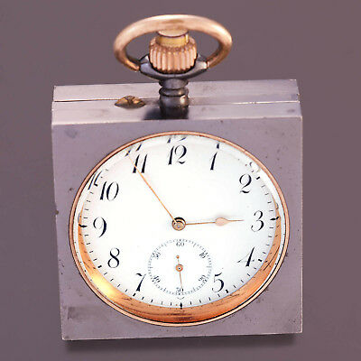 Swiss Quarter Hour Repeater Pocket Watch Ca 1900S | Scarce Square Gun Metal Case