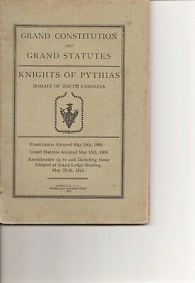 Grand Constitution and Grand Statutes - Knights of Pythias - 1915