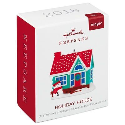 Hallmark 2018 Holiday House Miniature Snowman Magic Light Christmas Ornament