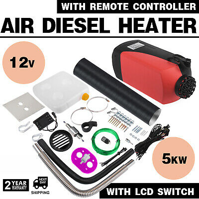 5KW 5000W 12V Diesel Air Heater + 10L Tank LCD Switch Remote For Trucks CarS Bus