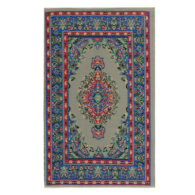 Miniature Floor Covering Turkish Style Rug Carpet for 1/12 Dolls House Decor