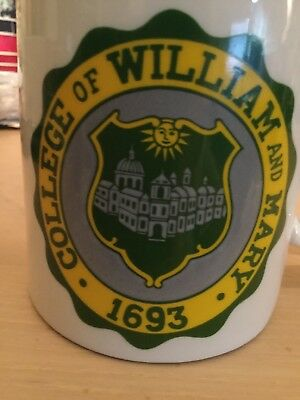 Vintage College Of William And Mary Coffee Mug Crest Cup Williamsburg Virginia