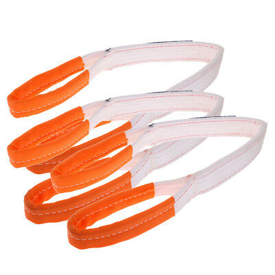 3Pc Universal Racing Sport Tow Hook Strap Band High Strength Heavy Duty Loop