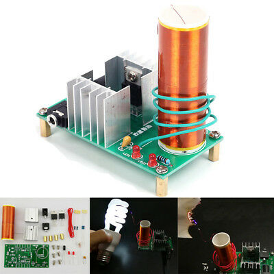 DIY Mini Tesla Coil Plasma Speaker Kit Electronic Field Music 15W Project Parts