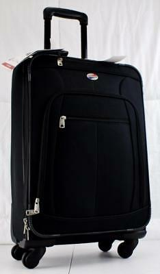 """American Tourister At Pop 21"""" Expandable Spinner Carry On Suitcase Black"""