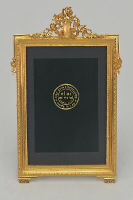 "Elias Artmetal Gold Plated 4"" x 6"" Flowerpot Picture Frame Style # 1757G"
