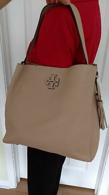 44d5f5945b96 TORY BURCH MCGRAW Hobo color Devon Sand Leather with Tassel Listed ...