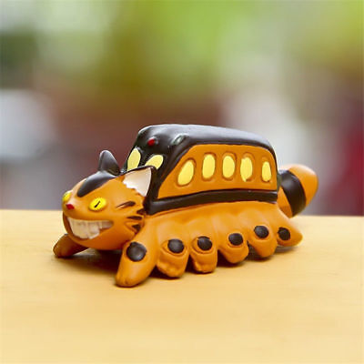 Studio Ghibli My Neighbor Totoro Cat Bus Figure Figurine Toy Home Garden Decor
