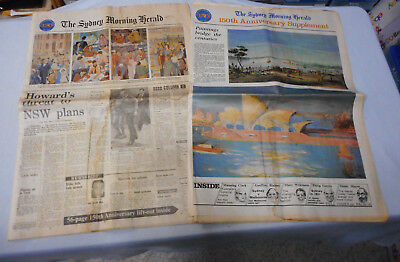 #T117.  The Sydney Morning Hearld Newspaper & Supplement - 150 Year Anniversay