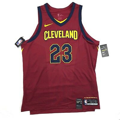 Nike Cleveland Cavaliers Lebron James Icon Authentic Jersey Red Blue Men s  52-58 dd70d037f