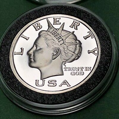 2003 NORFED Liberty Head & Torch 1/2 Troy Oz .999 Fine Silver Rare Round Coin