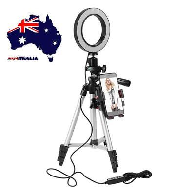 "AU Phone Tripod Holder Stand with 5.7"" Ring Light LED Camera Light Lamp Bracket"