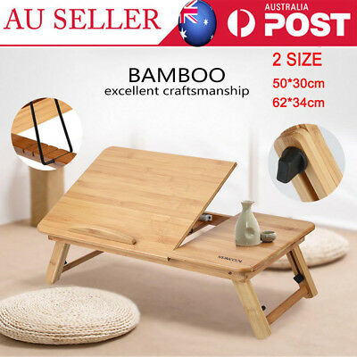 2019 Portable Foldable Wooden Bamboo Laptop Table Sofa Bed Office Laptop Stand
