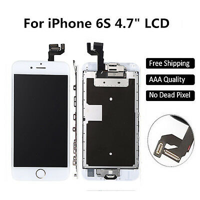 White LCD Display Touch Digitizer iphone 6S Screen Replacement & Home Button