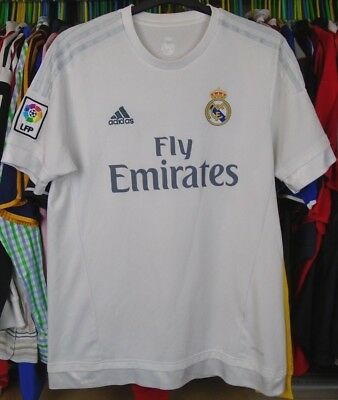 REAL MADRID 2015-2016 HOME adidas FOOTBALL SOCCER  SHIRT JERSEY TOP LARGE ADULT