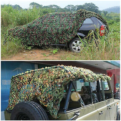 Woodland Stealth Camouflage Camo Net Shooting Hunting Hide Army Cover 4M x 1.5M