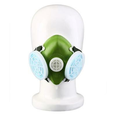 Dual Respirator Gas Mask Anti-Dust Twin Chemical Spray Paint Safety Headwear BE